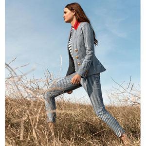 "Veronica Beard Pants - Veronica Beard ""Tee"" high-rise gingham trousers"